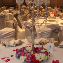 130x130 sq 1424379464965 candelabra with pink white wreath