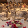 96x96 sq 1424379464965 candelabra with pink white wreath