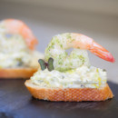 130x130 sq 1431531170124 creamy leek and basil pesto shrimp bruschetta
