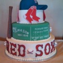 130x130 sq 1460579454957 wedding cake   boston red sox theme