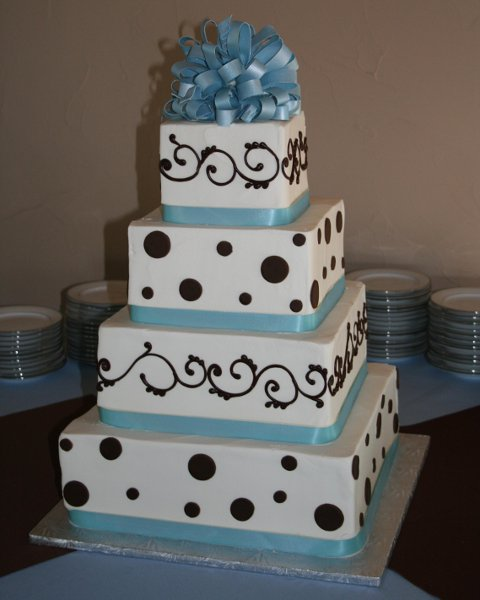 blue and brown wedding cakes the cake guys wedding cake 11942