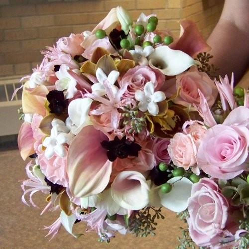 White Bouquet Fall Wedding Flowers Photos Pictures