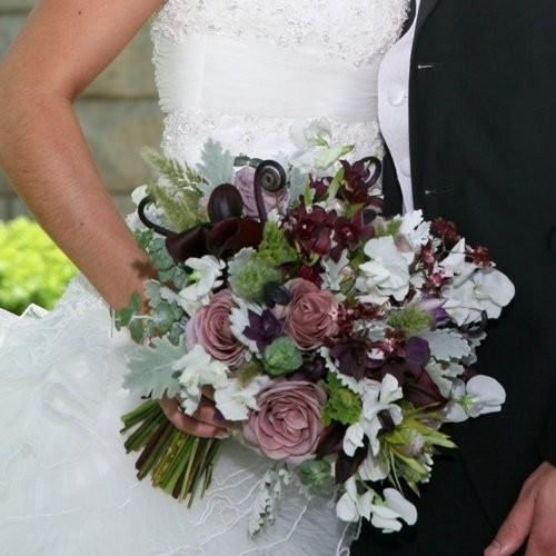 Wedding Purple Flowers: Brown Burgundy Green Purple Silver White Bouquet Garden