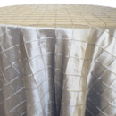 130x130 sq 1479208412233 120 seamless round pintuck taffeta table cloth sil