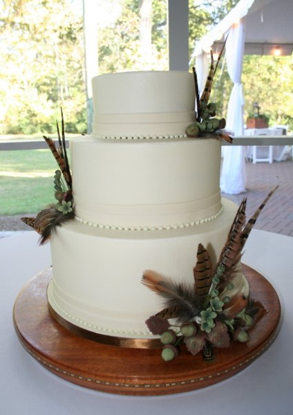 Brown Gold Green Ivory Fall Round Wedding Cakes Photos Amp Pictures