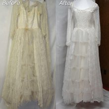 Janet davis cleaners wedding dress cleaning for Wedding dress cleaning birmingham
