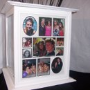 Share photos with you guests in this large white wedding card box by The Perfect Card Box