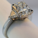 7.11carat total weight diamond ring with a modified radiant cut center. Platinum. $110,000.00