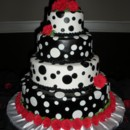 130x130 sq 1364788301272 blackwhuteweddingcake