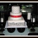 130x130 sq 1296609812983 weddingcakequiltingpolkadotribbonscrolls