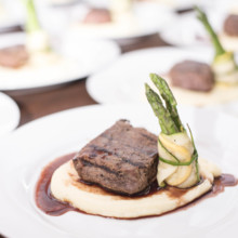 220x220 sq 1509662021357 plated   steak and asparagus
