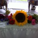 130x130 sq 1380035605832 fresh flowers on the buffet to match wedding theme