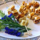 130x130 sq 1403282523970 chicken and cheddar waffle skewers with maple syru