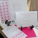 130x130 sq 1300985295924 designdelightpinkshimmerweddinginvitationforetsy
