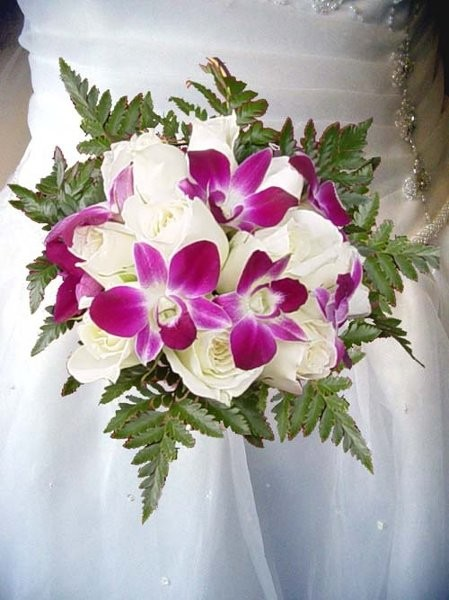 Small White Orchid Bouquet