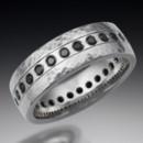 130x130 sq 1372278319115 hammered flush diamond wedding band copy