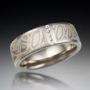 130x130 sq 1372278885788 mokume wedding band with vertical diamond channel