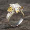 130x130 sq 1415400059234 juicy light three stone engagement ring 9mm moissa