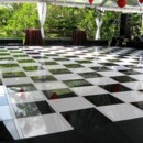 Imagine your first dance on this stunning black and white checkered dance floor!