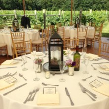 220x220 sq 1457645944674 table with lantern and wine number at laurita wine