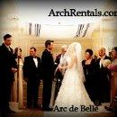 Arc de Belle Modern Acrylic Wedding Chuppah Rentals Available in Los Angeles Orange County San Diego Phoenix Orlando Miami South Florida Westgate Hotel