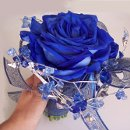 130x130 sq 1326397613603 bluewiredrosebouquet