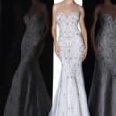 90198  THIS VINTAGE GLAMOUR SHEATH GOWN FEATURES ILLUSION BATEAU NECKLINE FINISHED WITH ASTISTRY PATTERN OF EMBROIDERY AND BEADING