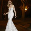 Style 90252  This soft and delicated lace sheath gown, is adorned with dazzling beading along a sweetheart neckline.