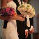 130x130 sq 1221430330136 bride maidofhonor bouquet altar