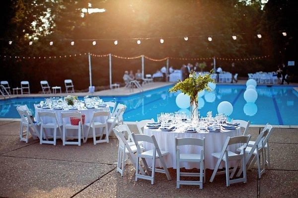 19 Best Pool Weddings Images On Pinterest