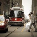 130x130 sq 1275497254347 25weddingpicdowntownintorontowithstreetcarandtaxi