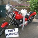 130x130 sq 1221443824776 justmarriedmotorcycle