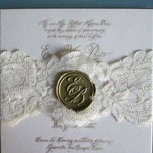 220x220 sq 1469627407 f506841a26008c11 1376321219411 invitation with lace band