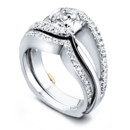 Cascade with Matching Wedding Band CascadeBand_19040 The Cascade wedding band contains 28 diamonds totaling 0.14ct. Engagement ring sold separately.