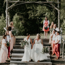 220x220 sq 1499878982488 outdoor wedding in nc at iron horse by trek and bl