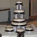 130x130 sq 1222546501807 chocolatetrimweddingcake