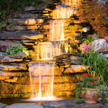 220x220 sq 1450370377456 outdoor night waterfall