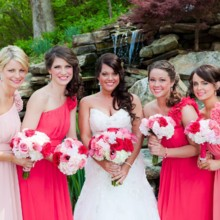 220x220 sq 1478805972660 bride and maids at waterfall in coral