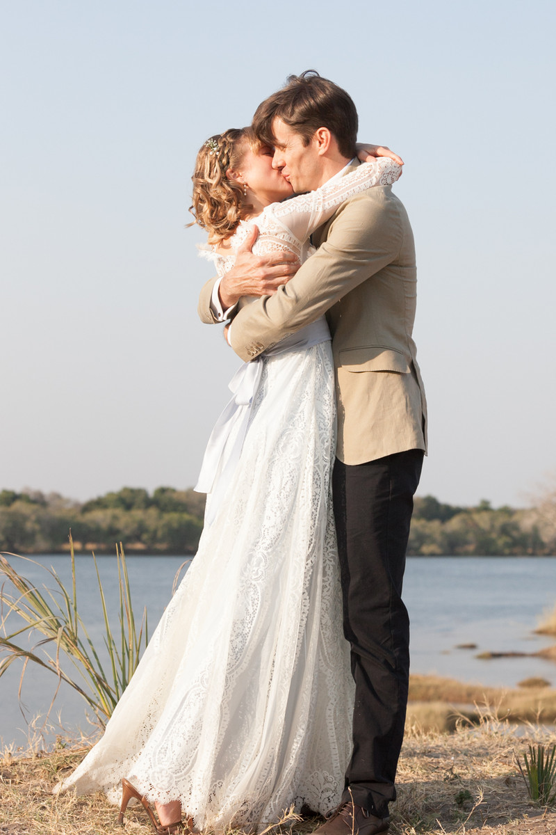 scenic zimbabwe water fall wedding, wedding real weddings gallery