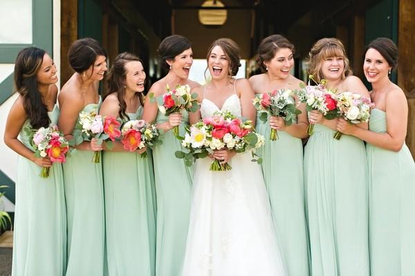 Robes demoiselles d'honneur longue verte bustier coeur