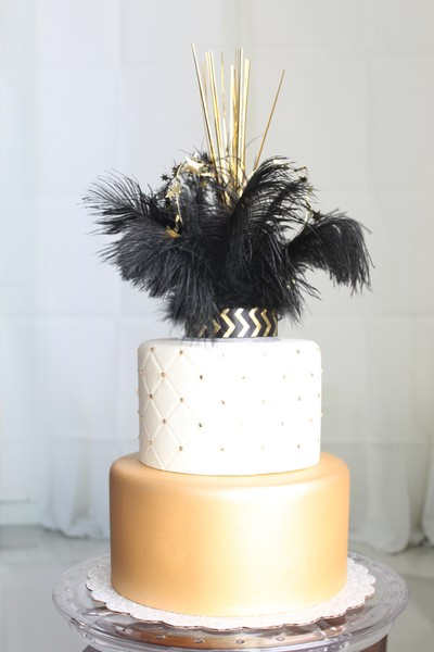 black and gold wedding cake topper classic formal informal shabby chic vintage black 11815