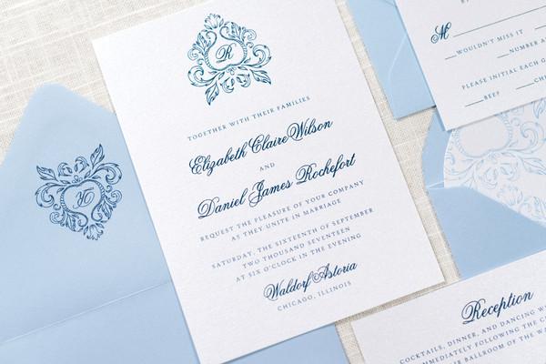 second city stationery chicago il wedding invitation