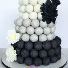 220x220 sq 1511799613336 cake pop cake   black silver  white logo