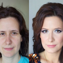 220x220 sq 1481554103694 hair makeup before and after 10