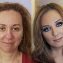 220x220 sq 1481554126751 hair makeup before and after 13