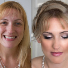 220x220 sq 1481554271695 wedding hair and makeup befor after1