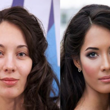 220x220 sq 1481554299872 wedding hair and makeup before and after 5