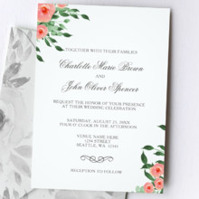 220x220 sq 1513437011750 coral roses wedding invittaions