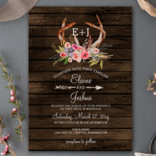 220x220 sq 1513439463251 blooming antlers wedding invitation sets