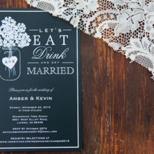 "<strong class='info-row'>lisa d. Photography</strong> <div class='info-row description'><html>  <head></head>  <body>    Invitations included a black and white color scheme as well as a mason jar motif.   Venue:   <a href=""https://www.weddingwire.com/reviews/whispering-tree-ranch/538664c81ed617fd.html"" target=""_blank""> Whispering Tree Ranch </a>  Invitations:   <a href=""https://www.weddingwire.com/reviews/zazzle-invitations-redwood-city/9c52b98cc486f2f1.html"" target=""_blank""> Zazzle</a>      </body> </html></div>"